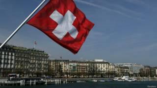Bandeira da Suíça   Crédito: Reuters