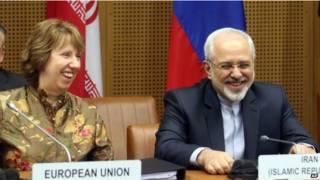 محمد جواد ظريف مع كاثرين أشتون
