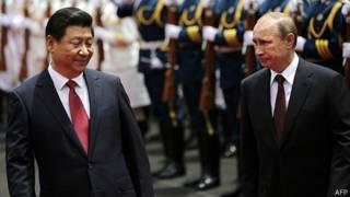 Лідери Китаю та Росії