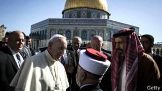 پاپ در کنار مفتی بزرگ بیت المقدس