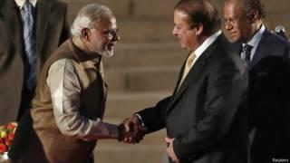 Narendra Modi e Nawaz Sharif (Reuters)