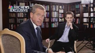 Snowden durante su entrevista con NBC