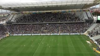 Segundo teste na Arena Corinthians / Crédito da foto: BBC Brasil
