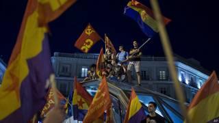 Protestos em Madri (AP)