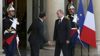 Hollande y Putin