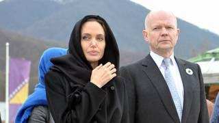 Angelina Jolie y William Hague