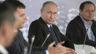 Путин на форуме об интернет-предпринимательстве