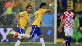 巴西隊擊敗克羅地亞