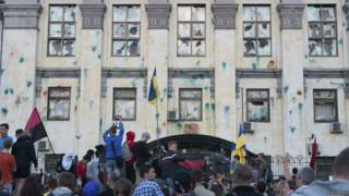 यूक्रेन में रूसी दूतावास पर हमला