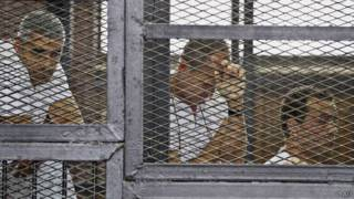 Mohammad Fahmy, Peter Greste y Baher Mohammad