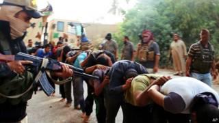 ISIS屠殺伊拉克政府軍士兵