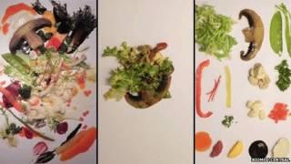 أشكال أطباق السلطة الثلاث