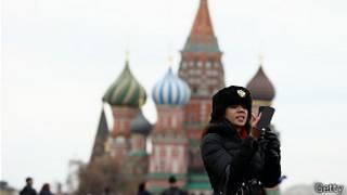 Турист на Красной площади