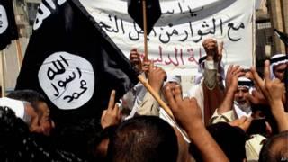 Manifestación en apoyo a ISIS