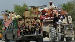 पाकिस्तान के उत्तरी वजीरिस्तान में विस्थापन