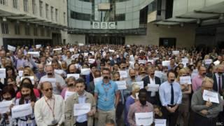 Акция протеста в Би-би-си