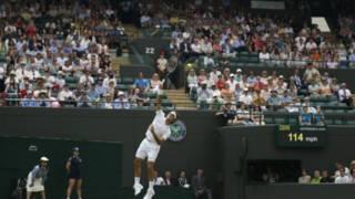 費德勒在溫網比賽