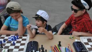 """Дети на празднике семьи в парке """"Музеон"""", Москва."""