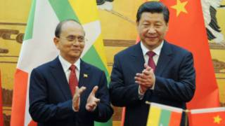Burmese President and Chinese counterpart
