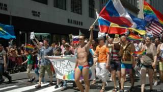 Россияне на гей-параде в Нью-Йорке