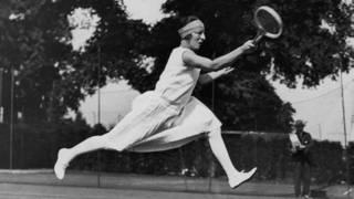 法國女選手蘇珊•朗格倫在溫網