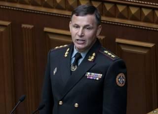 وزير الدفاع الأوكراني، فاليري هيليتي