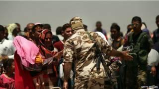 Mujeres indias en Irak