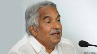 केरल के मुख्यमंत्री ओमन चांडी