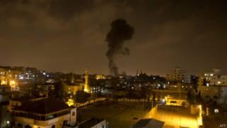 Дым на Газой