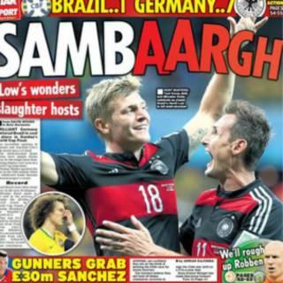 巴西慘敗於德國