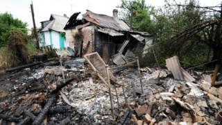 Bombardeos en Mariynka