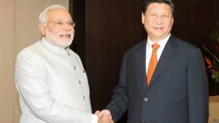 भारतीय प्रधान मंत्री नरेंद्र मोदी और चीन के राष्ट्रपति शी जिंपिंग