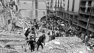 Edificio de la AMIA derrumbado