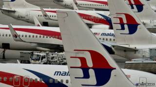 Aviões da Malaysia Airlines   Crédito: Getty