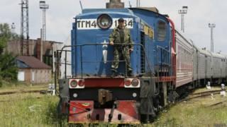 Поезд в Харькове