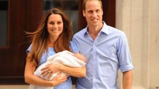 Новорожденный принц Джорджа на руках у мамы