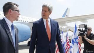 John Kerry llega a Israel
