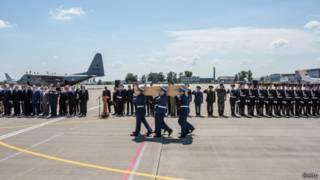 Церемонія прощання з жертвами авіакатастрофи у Харкові