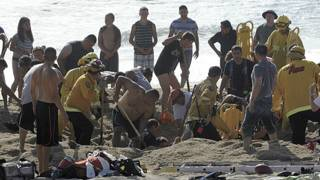 Rescate en playa de San Francisco
