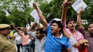 सीसैट को लेकर छात्रों का विरोध