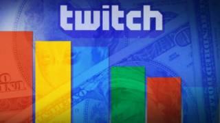 Twitch y colores de Google con dólares