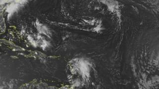"""La tormenta tropical """"Bertha"""" está saliendo de las Antillas Menores."""