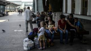 Беженцы из Донецка
