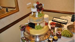 A cheese wedding cake