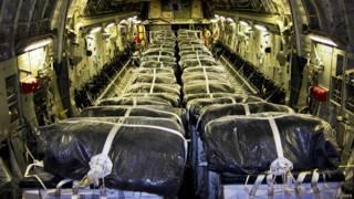 अमरीकी विमान में पानी का बंडल