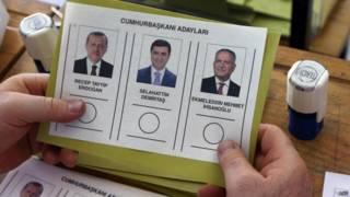 Balota electoral en Turquía