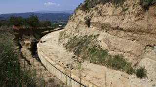 На месте раскопок в Амфиполисе