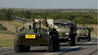 Tropas rusas maniobrando a 15 kilómetros de la frontera con Ucrania.