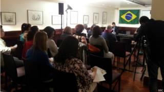 Evento da Casa do Brasil. Credito: BBC