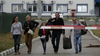 Українські біженці на кордоні